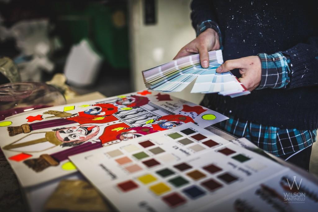 Carnival colors choice - Fano - Marche - Italy