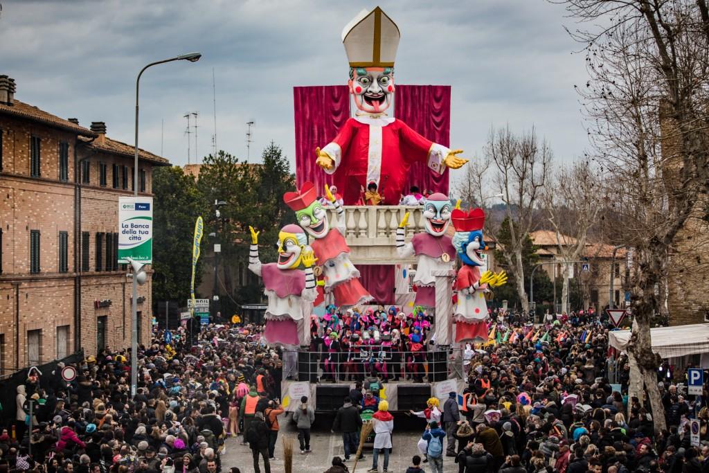 Carnival floats parade - Fano - Marche - Italy