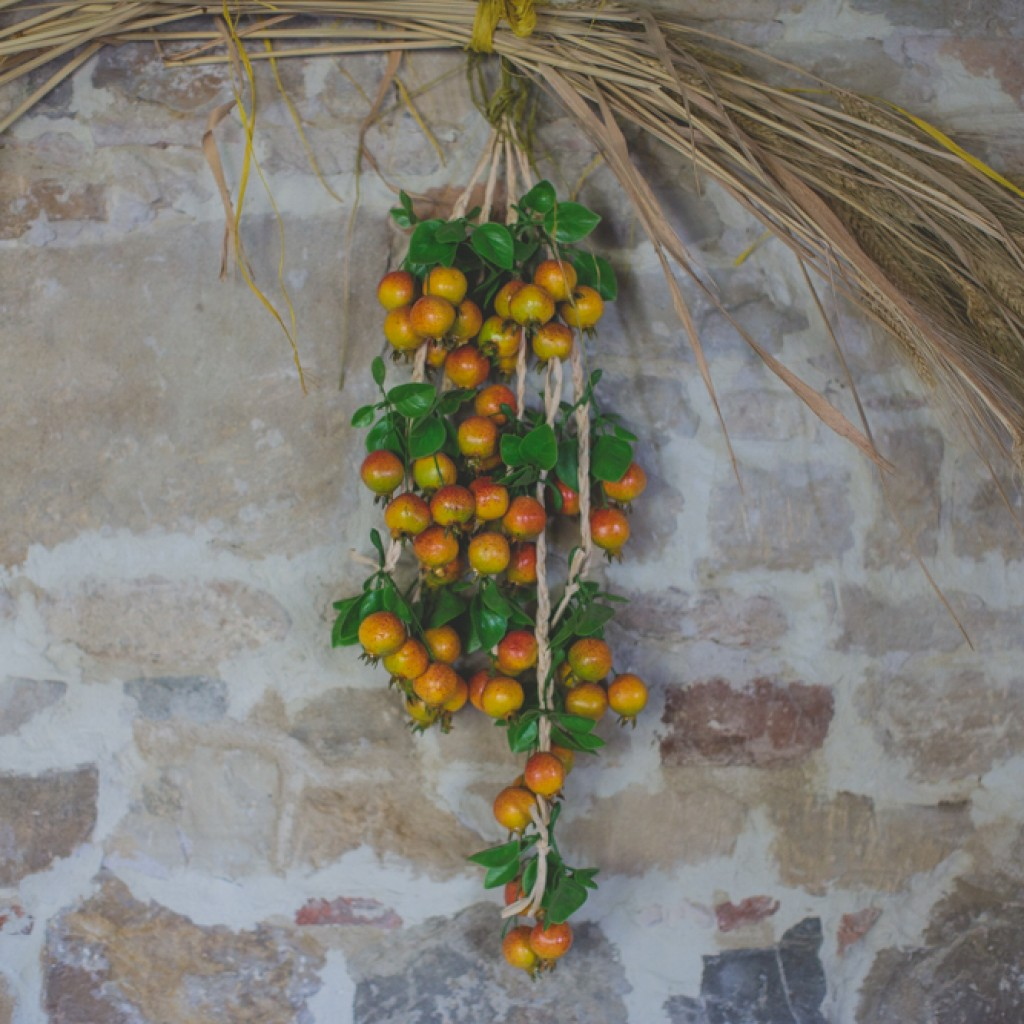 fruit on the wall