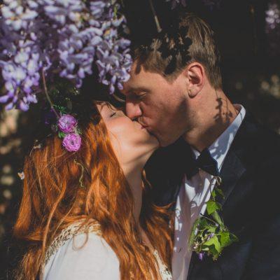 wife & husband kiss